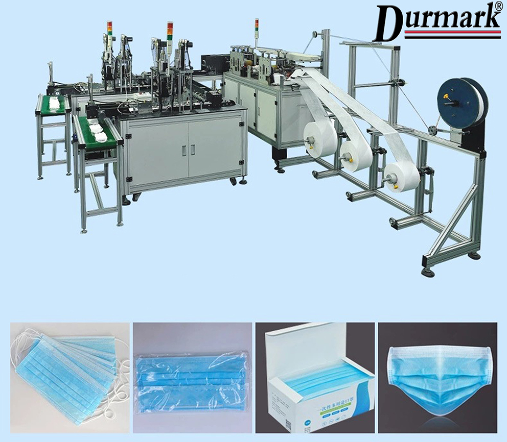 twins mask machine! !Fully Automatic 1 to 2 Disposable Medical Surgical Face Mask Machine